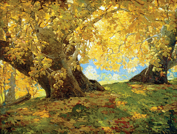Fig. 4: Edgar Alwin Payne (1883–1947) Sycamore in Autumn, Orange County Park, ca. 1917 Oil on board, 32 x 42 inches Private collection Courtesy of The Irvine Museum