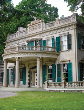 Fig. 6: The mansion at Montgomery Place includes elements designed by Alexander Jackson Davis. Photography by Bryan Haeffele.