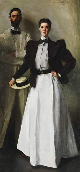 Fig. 3: John Singer Sargent (1856–1925), Mr. and Mrs. I. N. Phelps Stokes, 1897. Oil on canvas, 84-1/4 x 39-3/4 inches. Bequest of Edith Minturn Phelps Stokes (Mrs. I. N.), 1938 (38.104)