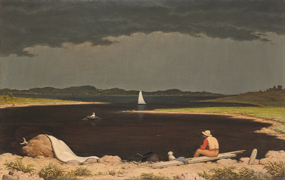 Fig. 4: Martin Johnson Heade (1819–1904), Approaching Thunderstorm, 1859. Oil on canvas, 28 x 44 inches. Gift of Erving Wolf Foundation and Mr. and Mrs. Erving Wolf, in memory of Diane R. Wolf, 1975 (75.160).