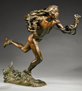 Fig. 3: Hermon Atkins MacNeil (1866–1947), The Moqui Prayer for Rain, modeled 1895–1896; cast ca. 1897. Bronze. H. 22-1/4, W. 26, D. 12 in. Gift of Mr. and Mrs. Walter C. Crawford, 1978 (1978.513.6).