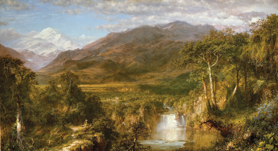 Fig. 2: Frederic Edwin Church (1826–1900), The Heart of the Andes, 1859. Oil on canvas, 66-1/8 x 119-1/4 inches.  Bequest of Margaret E. Dows, 1909 (09.95).