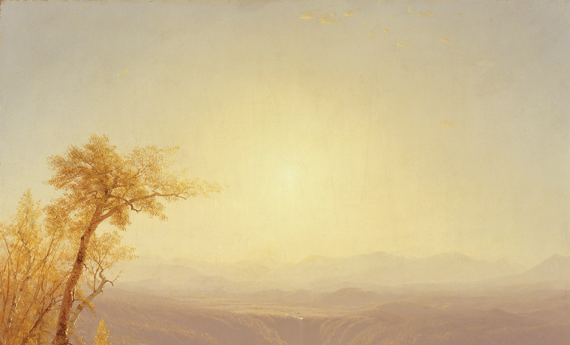 Fig. 5: Sanford Robinson Gifford (1823–1880), A Gorge in the Mountains (Kauterskill Clove), 1862. Oil on canvas, 48 x 39-7/8 inches. Bequest of Maria DeWitt Jesup, from the collection of her husband, Morris K. Jesup, 1914 (15.30.62).