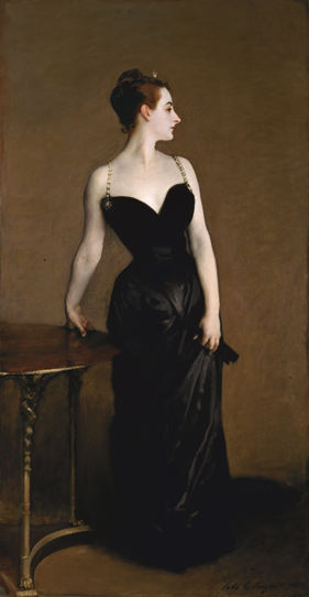 Fig. 1: John Singer Sargent (1856–1925)  Madame X (Madame Pierre Gautreau), 1883–1884  Oil on canvas, 82-1/4 x 43-1/8 inches  Arthur Hoppock Hearn Fund, 1916 (16.53)