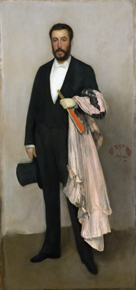 Fig. 4: James McNeill Whistler (1834–1903), Arrangement in Flesh Colour and Black: Portrait of Theodore Duret, 1883. Oil on canvas, 76-1/8 x 35-3/4 inches. Catharine Lorillard Wolfe Collection, Wolfe Fund, 1913 (13.20).