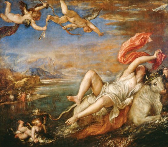 Fig. 2: Titian (Tiziano Vecellio) (Italian, circa 1488–1576) Europa, about 1560–62 Oil on canvas, 70 x 807/10 inches
