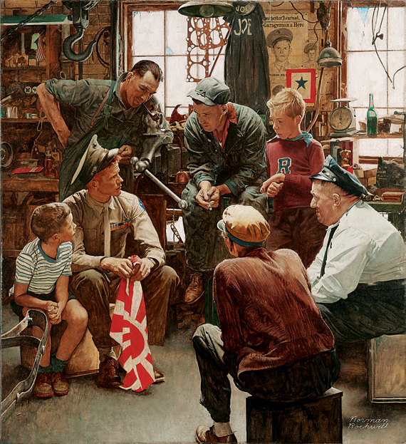 Norman Rockwell's (1894–1978) 1945 oil-on-canvas Homecoming Marine