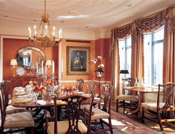 A new arrangement a design team makes a stellar for Regency dining room