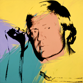 Fig. 8: Andy Warhol (1928–1987), Jack Nicklaus, 1977 Acrylic and silkscreen ink on linen, 40 x 40 inches The Andy Warhol Museum, Pittsburgh, Founding Collection, Contribution The Andy Warhol Foundation for the Visual Arts, Inc. (1998.1.702)  The celebrity status of golfers particularly appealed to Andy Warhol, who also focused on everyday commercial objects such as the iconic Campbell's Soup can and Brillo packing boxes. This 1977 work was part of Warhol's Athletes Series that presented ten sports stars as celebrity brands to be marketed and consumed by an eager public.