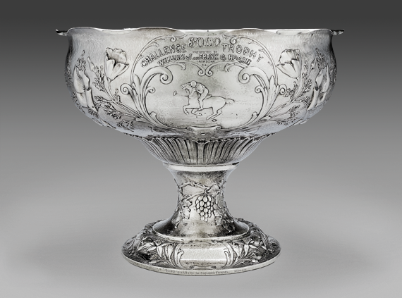 Fig. 10: Punch bowl, Clemens Friedell, Pasadena, California, about 1912. Silver. Museum purchase with funds donated anonymously, and from Shirley and Walter Amory, John and Catherine Coolidge Lastavica, H.E. Bolles Fund, Michaelson Family Trust, James G. Hinkle, Jr. and Roy Hammer, Robert Rosenberg, Sue Schenck, Grace and Floyd Lee Bell Fund, and Miklos Toth (2003.730).
