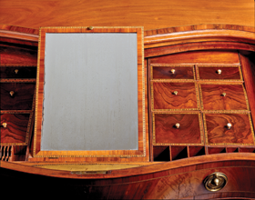 Fig. 4: Detail of interior of top drawer of chest in fig. 3.
