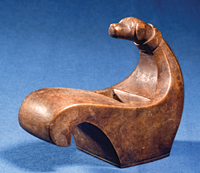 """Members were asked to submit images of their favorite objects. The owner of this 4 x 2-inch carved plane describes it as """"a tool, yet [a] work of art."""" Photography courtesy David Wheatcroft."""