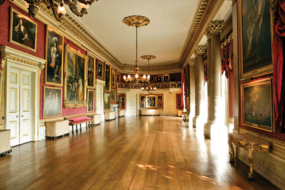 Fig. 3: Ballroom with landscapes and portraits collected through the centuries.
