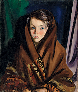 Fig. 10: Robert Henri (1865–1929) Her Sunday Shawl, 1924 Oil on canvas, 24 x 20-1/4 inches Courtesy, Virginia Museum of Fine Arts, Richmond; gift of Charles G. Thalhimer in memory of his wife, Rhoda (2003.125)