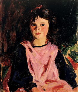 Fig. 11: Robert Henri (1865–1929) The Pink Pinafore (Mary Ann Cafferty), 1926 Oil on canvas, 24 x 20 inches Courtesy, Sheldon Museum of Art, University of Nebraska-Lincoln, UNL-F.M. Hall Collection