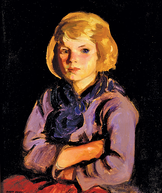 Fig. 13: Robert Henri (1865–1929) Portrait of Mary Gallagher, 1924 Oil on canvas, 24-1/4 x 20-1/4 inches Courtesy, The Newark Museum; gift of Mrs. Felix Fuld (1925.25.1168)