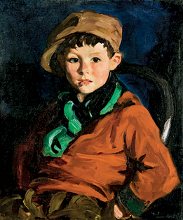 Fig. 2: Robert Henri (1865–1929) Tom Cafferty, 1924 Oil on canvas, 24 x 20 inches Courtesy, Memorial Art Gallery of the University of Rochester; gift of Mrs. Granger A. Hollister (1926.1)