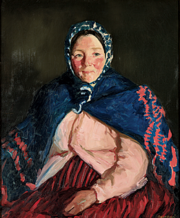 Fig. 7: Robert Henri (1865–1929) Old Johnnie's Wife, 1913 Oil on canvas, 31 x 25 inches Courtesy, Indianapolis Museum of Art; Gift of John J. Weldon in memory of his wife Jean Dinwiddie Weldon (1981.795)