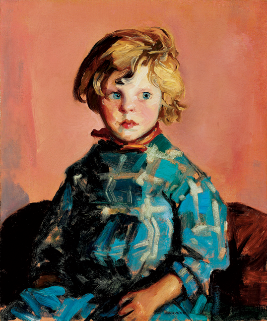 Fig. 8: Robert Henri (1865–1929) The Blue Plaid Dress (Annie), 1927 Oil on canvas, 24 x 20 inches Courtesy, private collection