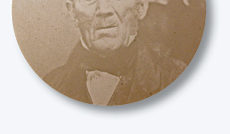 "Fig. 2: Robert McGuffin (1779/1780–after 1863). Photograph from a glass plate negative in the collection of the Lawrence County Historical Society, New Castle, Pennsylvania. The photograph was published in the ""Fifth Annual Old Timers Picnic Pamphlet"" dated August 10, 1911. Sankey Glass Slide Collection, Lawrence County Historical Society."