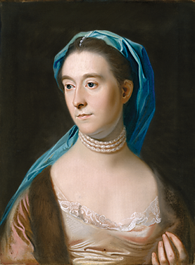 Fig. 6: John Singleton Copley (1738–1815), Sarah Henshaw, wife of Joseph Henshaw, ca. 1770. Pastel on paper, 24 x 17-3/4 inches. Courtesy, The Museum of Fine Arts, Houston, Bayou Bend Collection, gift of Miss Ima Hogg.