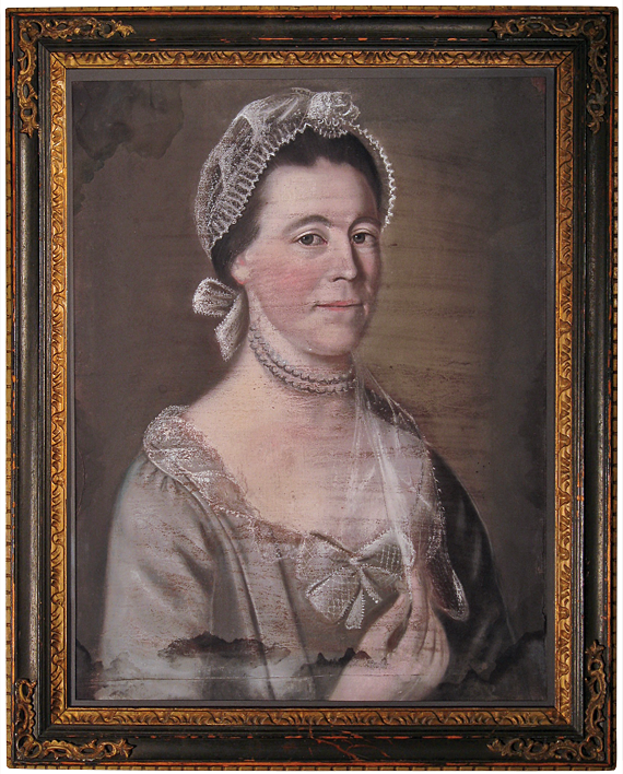 Fig. 1: Attributed to John Singleton Copley (1738–1815), Elizabeth Hiller, ca. 1770. Pastel, 23 x 17-7/8 inches (sight). Private collection.