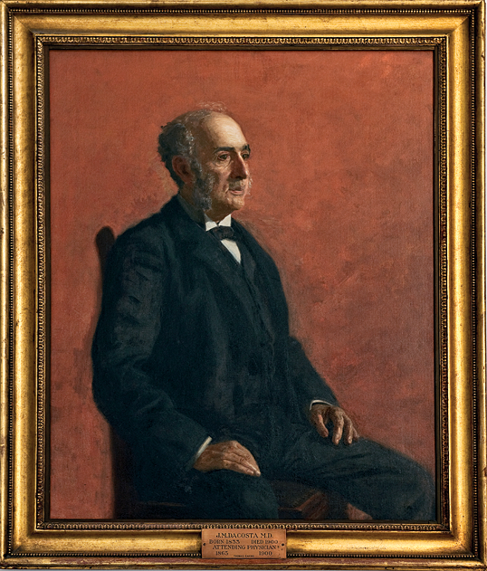 Thomas Eakins, (1844–1916) , Portrait of Jacob Da Costa, Philadelphia, ca. 1899. Oil on canvas. 41 x 32-1/2 inches. Pennsylvania Hospital Historic Collections.