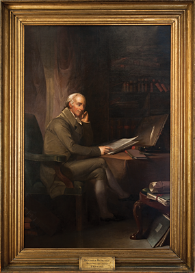 Thomas Sully (1783–1872), Portrait of Benjamin Rush, Philadelphia, 1813. Oil on canvas, 92 x 69 inches. Donated by the students of Benjamin Rush Pennsylvania Hospital Historic Collections.