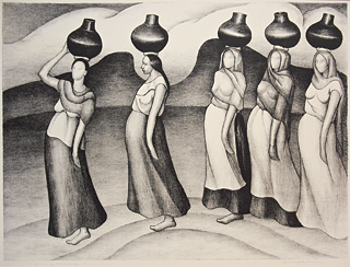 Fig. 9: Henrietta Shore (1880–1963) Women of Oaxaca, 1927 Lithograph, 21-1/4 x 26 inches Courtesy, Monterey Museum of Art, Monterey, Calif. MPMA purchase fund