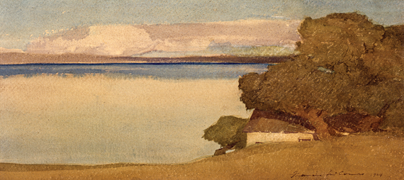 Fig. 1: Francis John McComas (1874–1938) Coastal Landscape, 1904 Watercolor, 7 x 15-1/2 inches Courtesy, Monterey Museum of Art, Monterey, Calif. Bequest of Mr. and Mrs. W. R. Holman