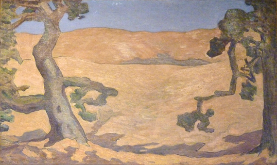 Fig. 4: Gottardo Piazzoni (1872–1945) Golden Hills and Shadows, 1928 Oil on canvas, 52 x 32-3/4 inches Collection of Teresa and Eric Del Piero