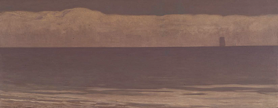 Fig. 3: Gottardo Piazzoni (1872–1945) Seascape (The Sea), 1915 Oil on canvas mounted on board, 48 x 124 inches Courtesy, Berkeley Art Museum, Berkeley, Calif. Gift of Kevin and Ansley K. Salz