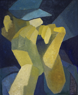 Fig. 6: Margaret Bruton (1894–1983) The Harmonica, c. 1930-5 Oil on canvas, 40 x 34-1/2 inches Collection of Teresa and Eric Del Piero