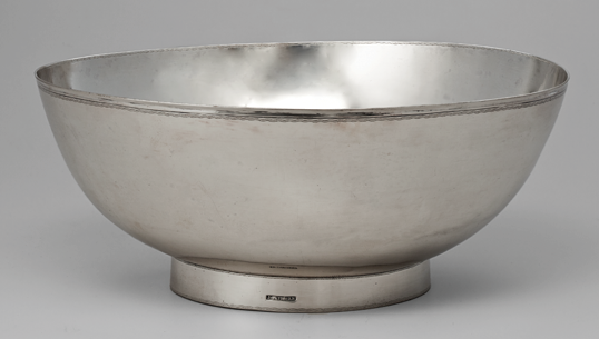 Fig. 10: Punchbowl, John Gaither (d.1819), ca. 1810. Silver. H. 4-1/2, D. 10-1/8 in. Courtesy, The Museum of Early Southern Decorative Arts; gift of Frank L. Horton (3465).