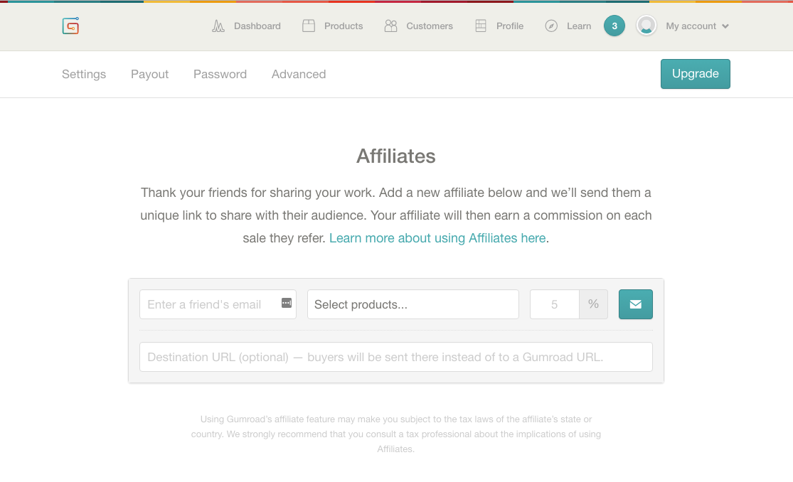 Gumroad affiliate program affiliatepaper