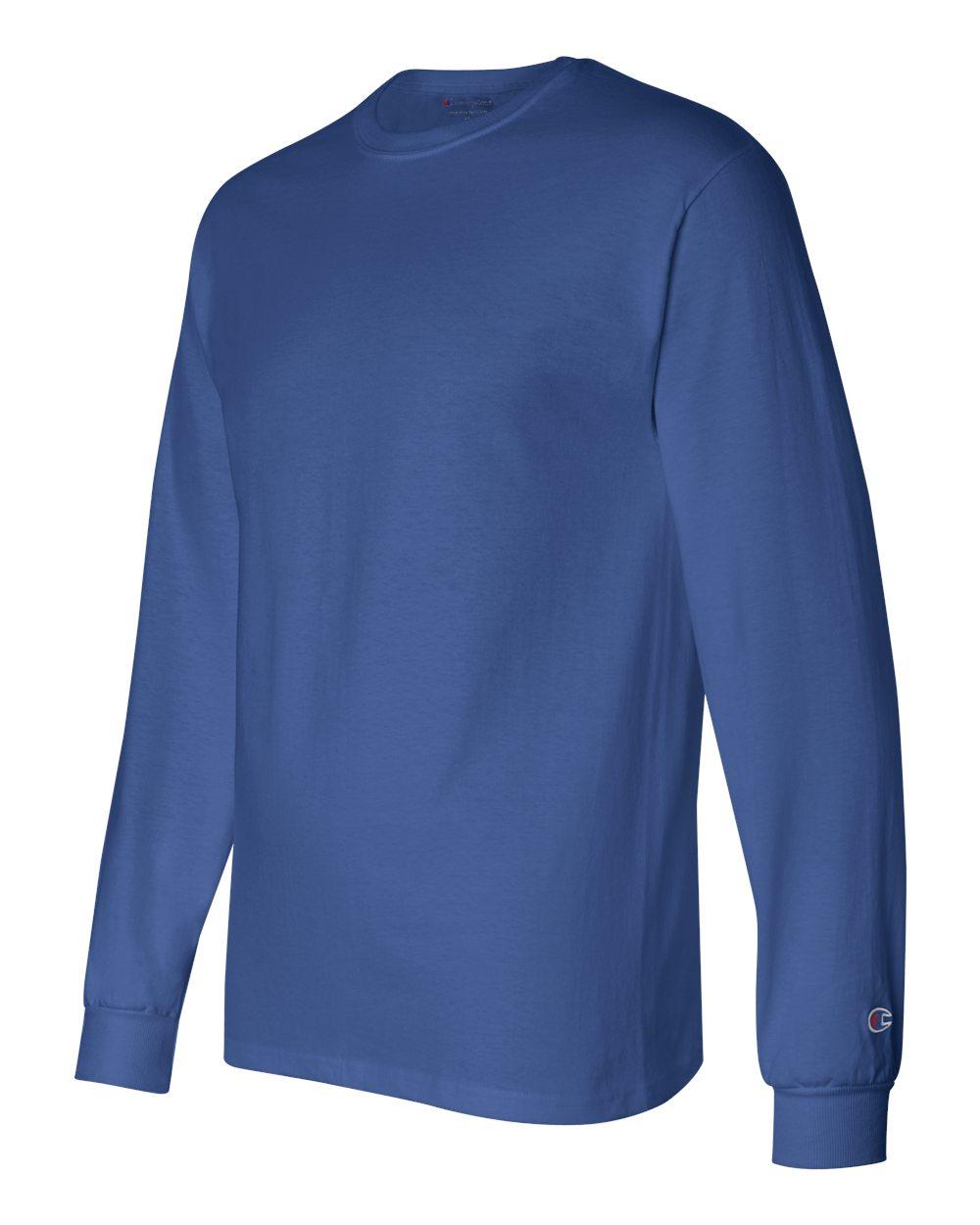 Champion Men/'s 5.2 oz Long-Sleeve T-Shirt CC8C S-2XL