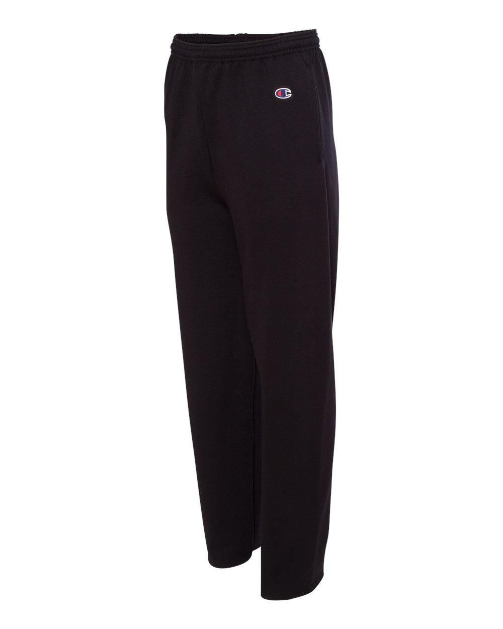 Open-Bottom Fleece Pant with Pockets P800 S-2XL Champion Men/'s Eco 9 oz