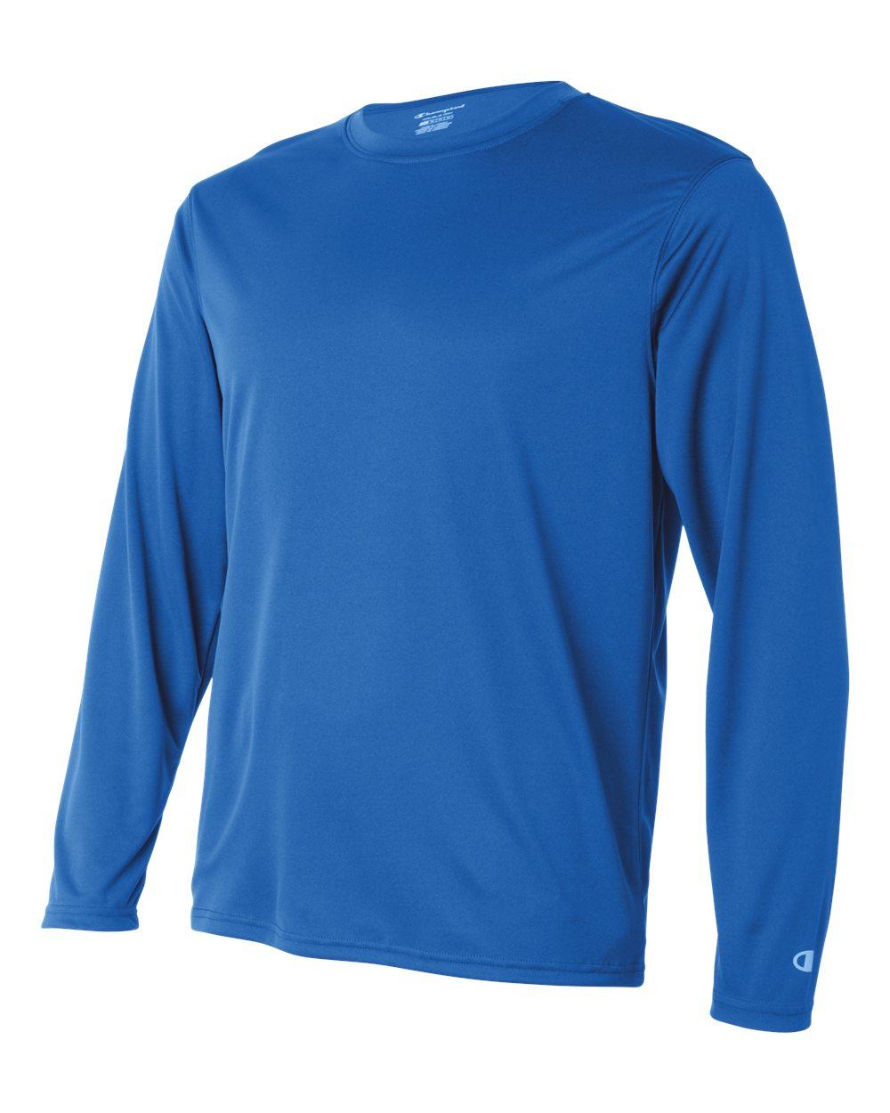 Long-Sleeve Interlock T-Shirt CW26 XS-3XL Champion Men/'s Double Dry 4.1 oz