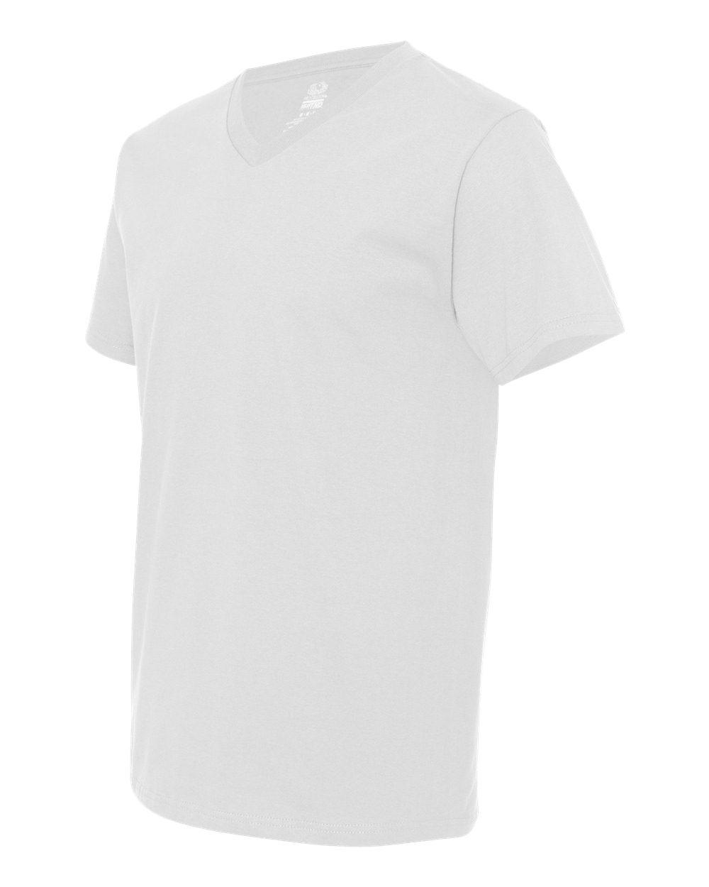 Fruit of the Loom Men/'s 5 oz 100/% Heavy Cotton HD V-Neck T-Shirt 39VR S-3XL
