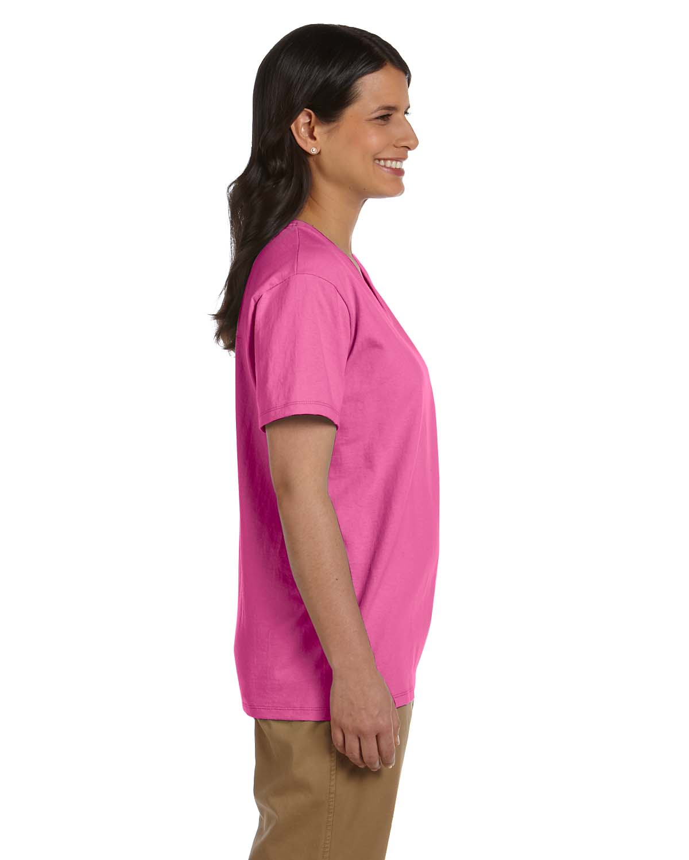 Hanes Women/'s 5.2 oz V-Neck Cotton T-Shirt 5780 S-2XL