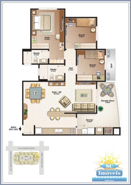 Apartamento Codigo 12144a Venda no bairro Campinas na cidade de São José