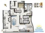 planta dos apartamentos de 3 dormitórios