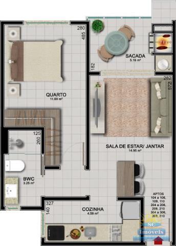 GAIVOTAS APART HOTEL planta apto 104a106-109-110