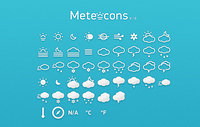 Meteocons - 40+ Weather Icons Free