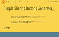 Simple Sharing Buttons
