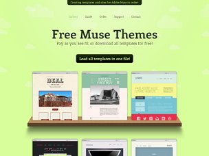 Site for Muse High quality free templates for Adobe Muse TJ4BLMeQ