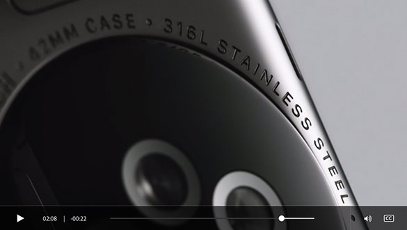 apple watch stainless steel closeup