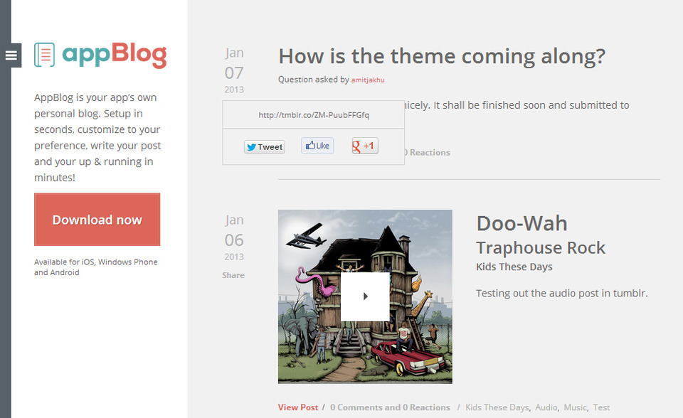 image from AppBlog Tumblr Theme group