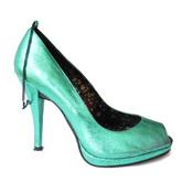 image from Metalic Green Peep Toe group
