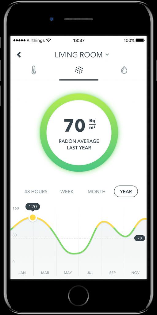 Radon Mobile App Becquerel